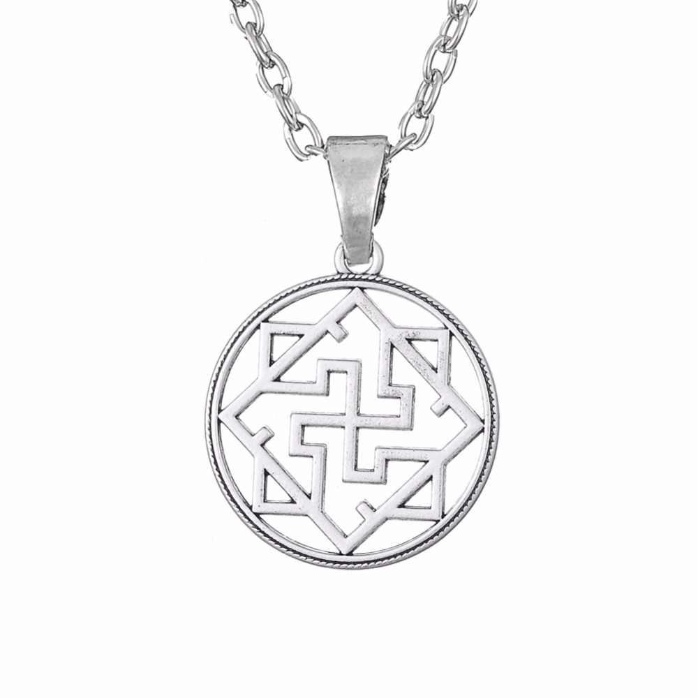 Крючок Валькирия символ языческих амулет Подвеска славянский Цепочки и ожерелья украшения для Для мужчин религиозных серебряные Цепочки и ожерелья полый кулон ювелирные изделия