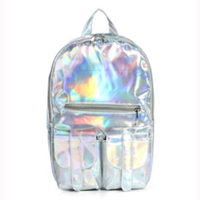 Holographic Mochila Masculina Borse Bag Backpack For Women Silver Hologram Laser Backpack Girls Bag Fashion Hot Sales