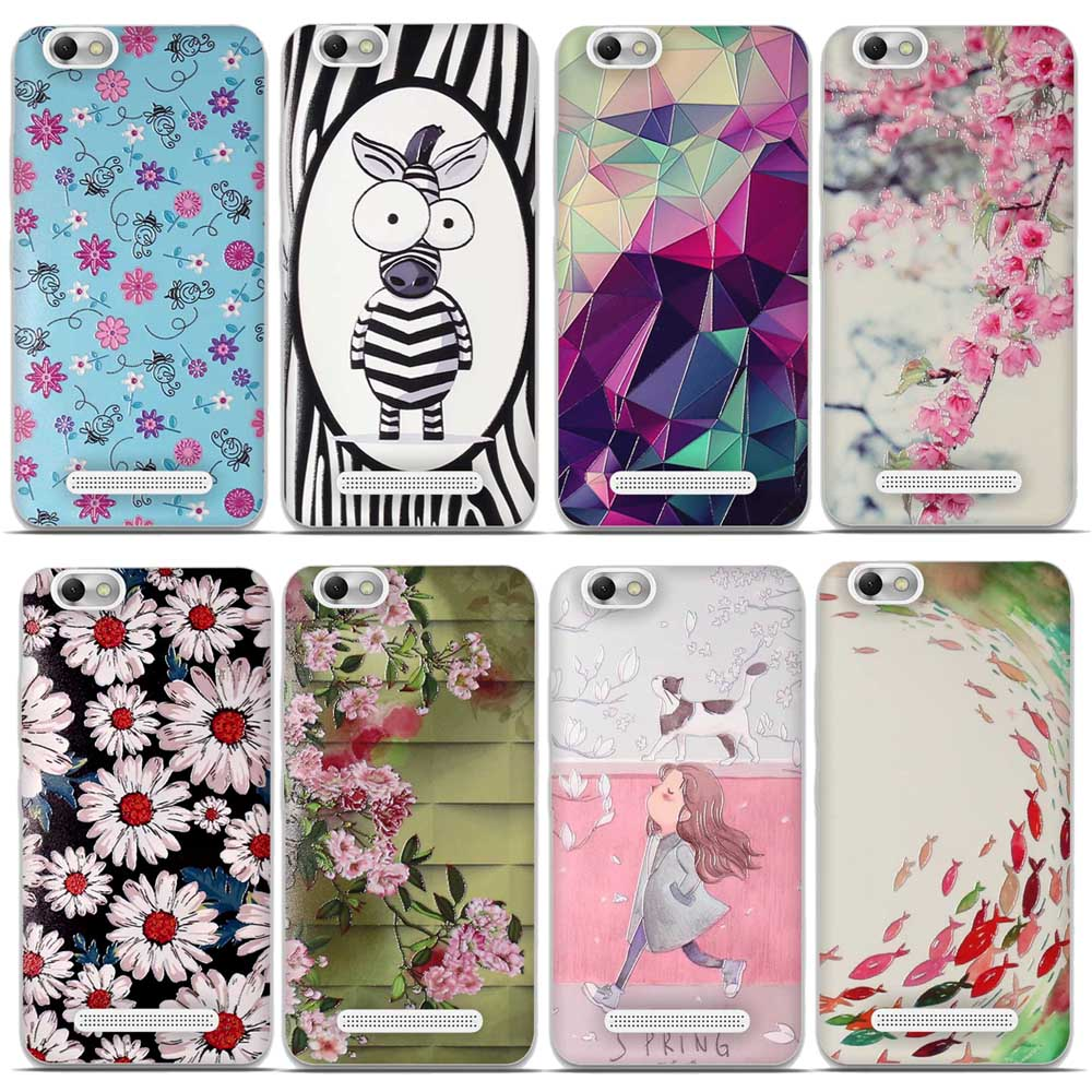 3d Flower Cute Animal Silicon Case For Lenovo Vibe C A2020 White Cover Soft Tpu
