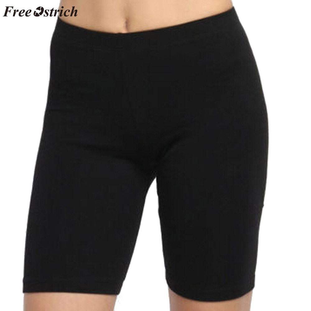 FREE OSTRICH Sports   shorts   women running fashion solid color high stretch bottoming gym cycling   shorts   jogging fitness   shorts
