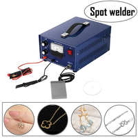 Mini Spot Welder Gold Silver Jewelry Laser Welding Machine with Handle Tool 110V DX 50A 400W Spot Welder Welding Machine Silver