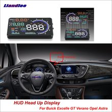 Liandlee For Buick Excelle GT Verano Opel Astra 2012-2018 Safe Driving Screen Car HUD Head Up Display Projector Windshield