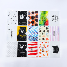 1Pcs New Brief Style Bear Transparent Double Layer PVC Card Cover Bus Bank Id Card Case Holder Gift E0013(China)