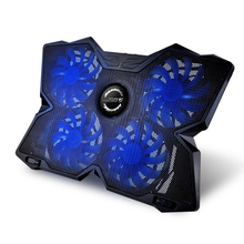 COOL COLD USB Powered Slim Flat Notebook Laptop Cooler Cooling Pad Radiator with LED Four Fans for 17inch Laptop Gaming Daily