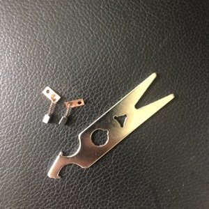 1set =2pcs carbon brush+Handle maintance Wrench Part for dental saeshin strong 210 102L 105L 90 204 manicure machine(China)