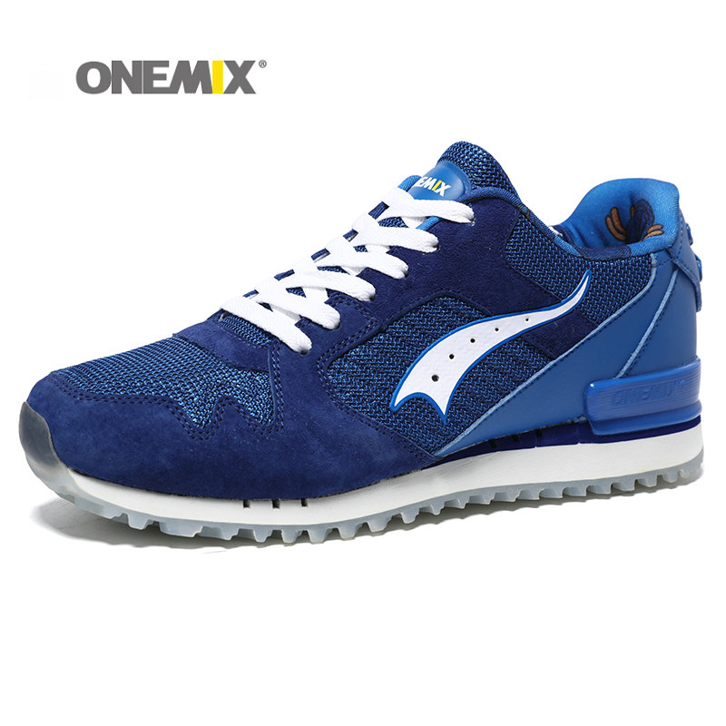 ONEMIX New Men Running Shoes Pigskin Uppers Sport Shoes for Boy Damping Light Men Retro running shoes Shoes Free Shipping onemix ultra light running shoes for men