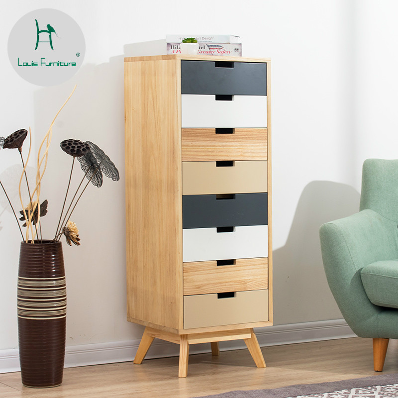 Louis Fashion Living Room Cabinets Solid Wood Simple ...
