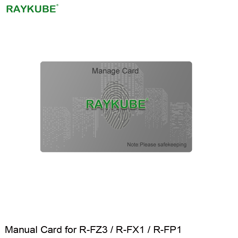 RAYKUBE Manual Card Only For Our Fingerprint Door Lock R-FZ3/R-FX1/R-FP1