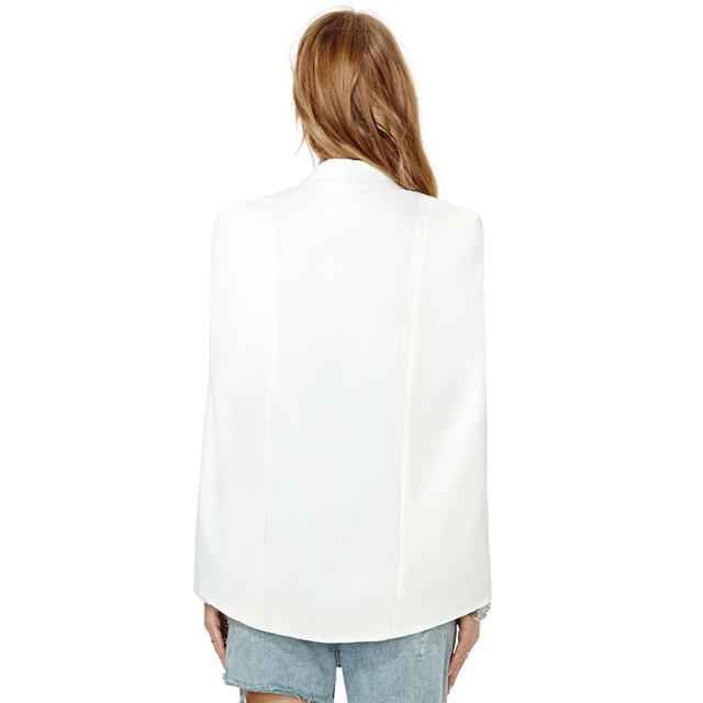 Fashion Cloak Cape Blazer with Split