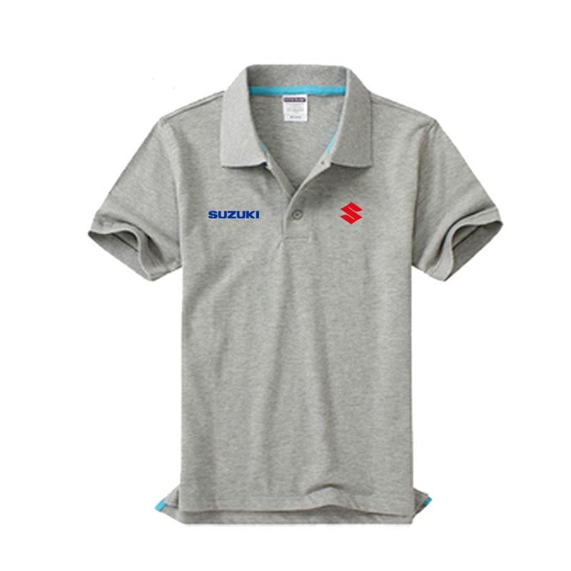 Brand clothing SUZUKI logo   Polo   Shirt Casual solid male   polo   shirt Short Sleeve High quality
