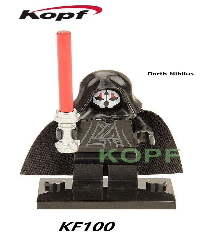KF100 50Pcs Avengers Building Blocks Horror Theme Movie Figures Darth Nihilus With Reo Lightsaber Model Education Toys Assemble