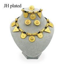JHplated 2019 Ethiopian Jewelry Gold Color Rope Sets for African /Ethiopia /Eritrean Women wedding jewelry sets(China)