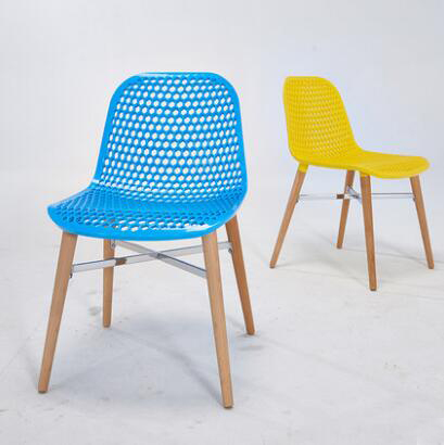 YINGYI Free Shipping Modern Plastic Dining Chair Without Arms Blue Yellow Red Colors