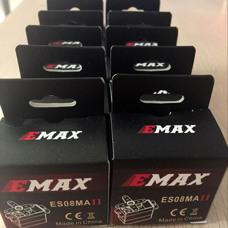 10Pcs EMAX ES08MA II 12g/ 2.0kg Mini Metal Gear Servo for 450 RC Helicopter 1pc original emax es08ma ii mini metal gear analog servo 12g 1 8kg high speed upgrade es08ma