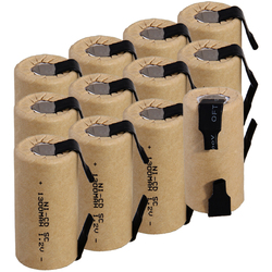 Самая низкая цена 12 шт SC батареи 1,2 v батареи перезаряжаемые 1300mAh nicd батареи для электроинструментов akkumulator