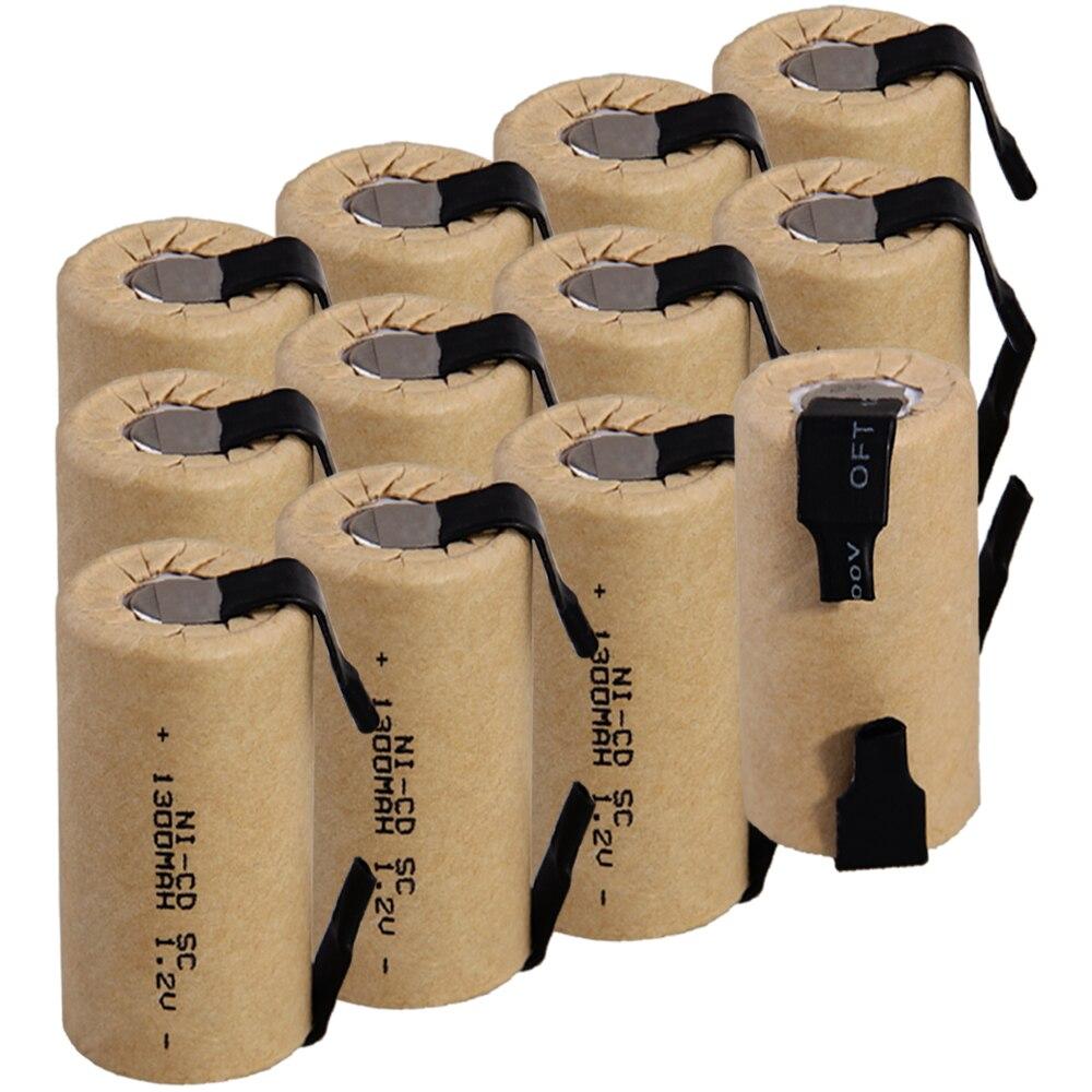 Prix le plus bas 12 pièces SC batterie 1.2 v batteries rechargeables 1300 mAh nicd batterie pour outils électriques akkumulator