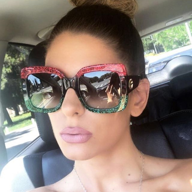 1e29c77139 KEHU Retro Square Frame Glasses Classic Square Sunglasses Women Fashion Sun  Protection Sunglasses Technicolor Eyeglasses K9335