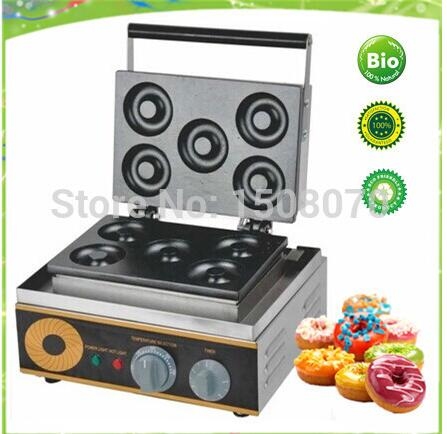 Free Shipping 6pcs per time automatic donut maker mini donut machine automatic donut making and frying machines with 3 mold free shipping