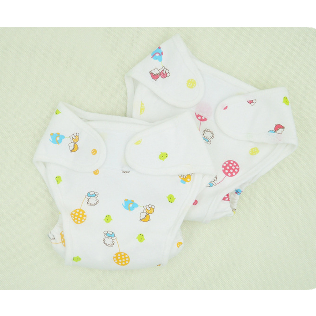 Cotton Baby Nappies Diaper Reusable Washable Cloth Diapers Nappy Cover Waterproof  Newborn Baby Traning Panties Diapers Pocket
