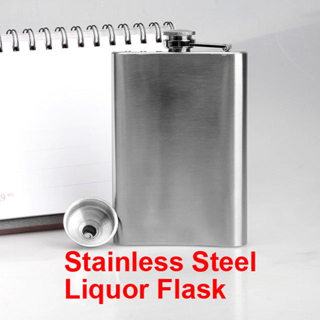 Stainless Steel Wine Bottle Hip Drink Liquor Whisky Alcohol Flask Screw Cap Funnel Cap Steel