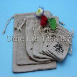 100pcs/lot wholesale jute/linen/flax drawstring gift bags for toiletry/IPAD air packaging,Size be customized,Various colors