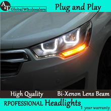 A&T Car Styling for Citroen C4L Headlights 2014 C4 LED Headlight DRL Lens Double Beam H7 HID Xenon Car LED Light