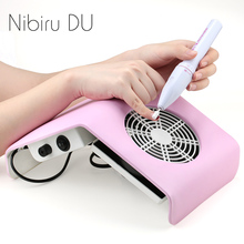 30W Nail Art Vacuum Cleaner Manicure Set For UV Gel Polish Dust Suction Collector Machine Low Noisy Nails Art Dust Cleaner Tool large nail art dust suction collector nails duster vacuum cleaner machine with glazing drill tool kit