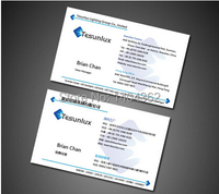 high grade 1000pcs/lot Paper business card 300gsm paper cards with Custom logo printing Free Shipping N0.1015