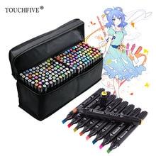 TOUCHFive, один выбор, цветные художественные маркеры, ручка для рисования, черная двойная головка, спиртовой эскиз, маркер, ручка для манги, живопись, товары для рукоделия