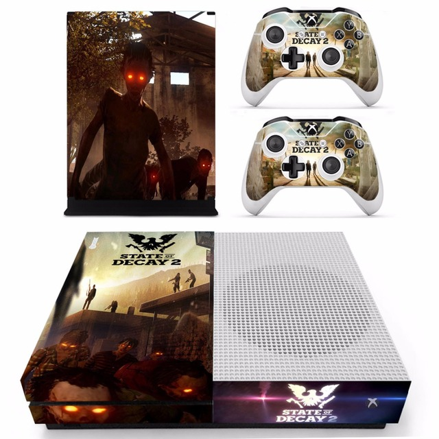 06767dd1e683c4 Game State of Decay 2 Skin Sticker Decal For Microsoft Xbox One S Console  and 2 Controllers For Xbox One S Skins Sticker Vinyl