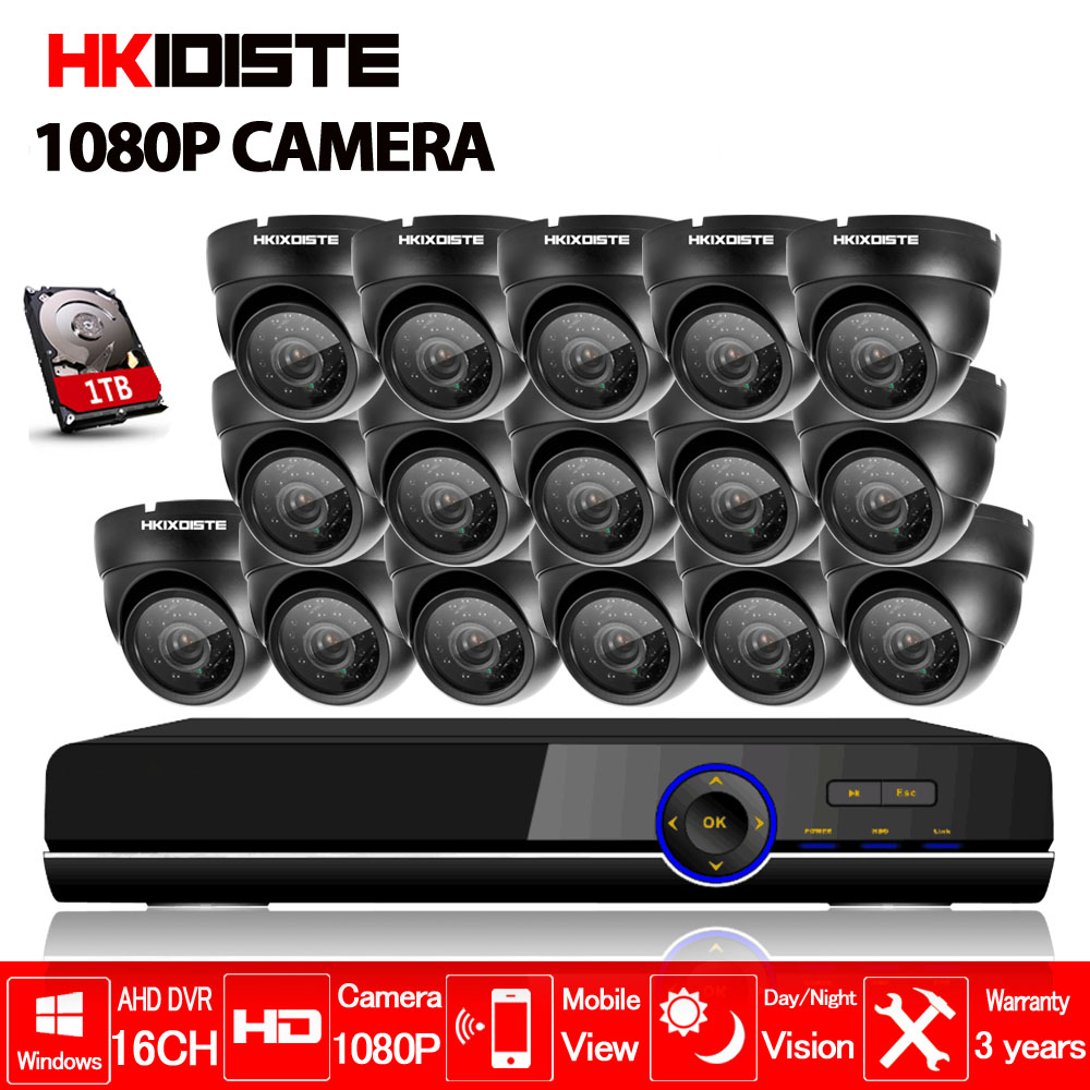 home 16ch AHD 1080P DVR 1080P 3000tvl Indoor corridor security camera cctv system video surveillance kit 16 channel hdmi 1080p