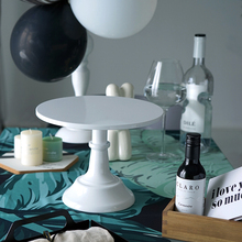 SWEETGO גרנד בייקר עוגת Stand 10 אינץ לחתונה שולחן מתכוונן גובה פונדנט cupcake תצוגת אבזר מסיבת בישול
