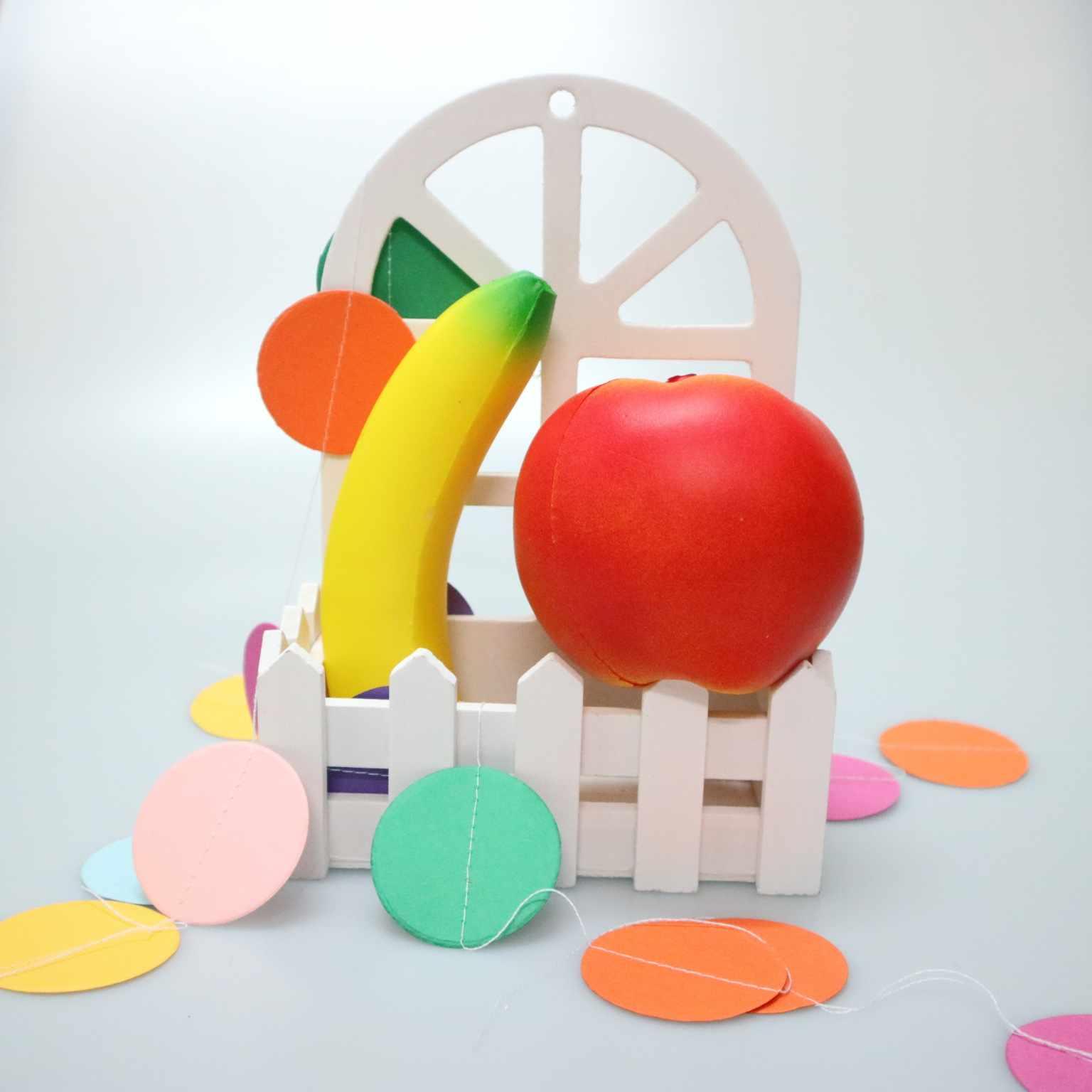 Série de frutas Squishy Lento Crescimento Anti-Stress Brinquedos Lento Nascente Creme Perfumado Mole Squishies Espremer Brinquedos Novidade Crianças Presentes