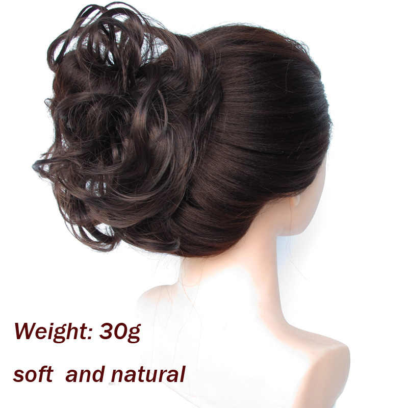 Jeedou pelo sintético Chignon Donut cuerda elástica banda de goma pelo moño almohadilla Updos peluches accesorios para el cabello para mujer