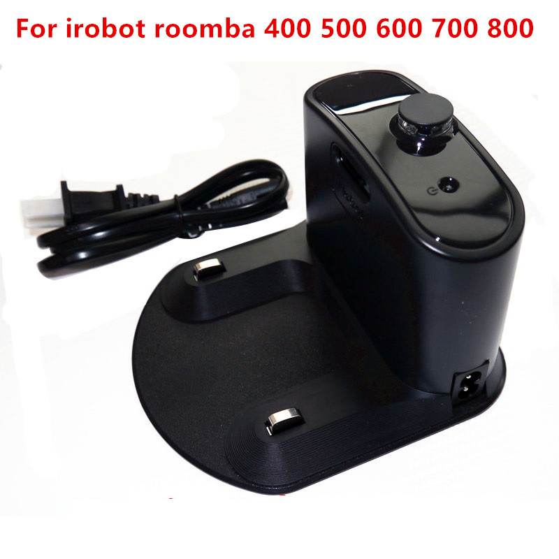 1Pcs Charger Base for IRobot Roomba 595 620 630 650 660 760 770 780 870 All 400 500 600 700 800 Series Vacuum Cleaner Parts 100pcs side brush for irobot roomba 500 600 700 series 550 560 630 650 760 770 780 vacuum cleaner accessories parts