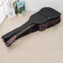 38 / 41 Inch Acoustic Guitar Storage Bag Waterproof Portable Adjustable Oxford Cloth Handled Holder Case