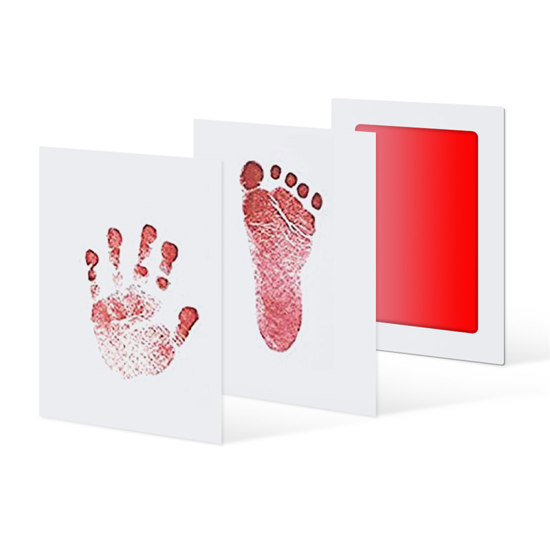 Drop Ship Baby Handprint Footprint Non-Toxic Newborn Imprint Hand Inkpad Watermark Infant Souvenirs Casting Clay Toys Gift