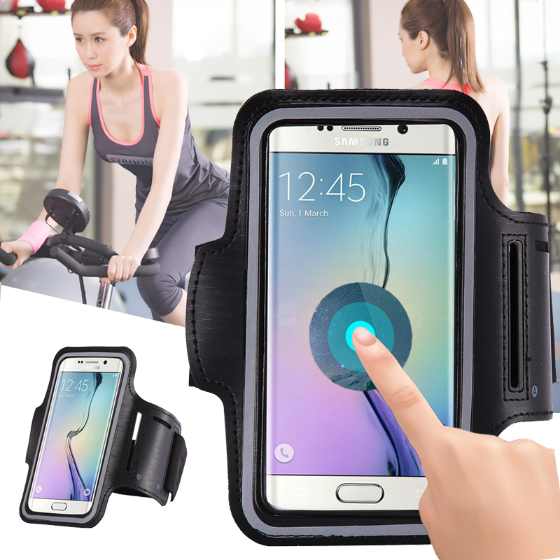 For Samsung Galaxy J5 S4 Grand Prime S5 Note 4 5 3 2 1 Case Universal Arm Band Pounch Pouch Workout Bag Gym Sport Case Cover