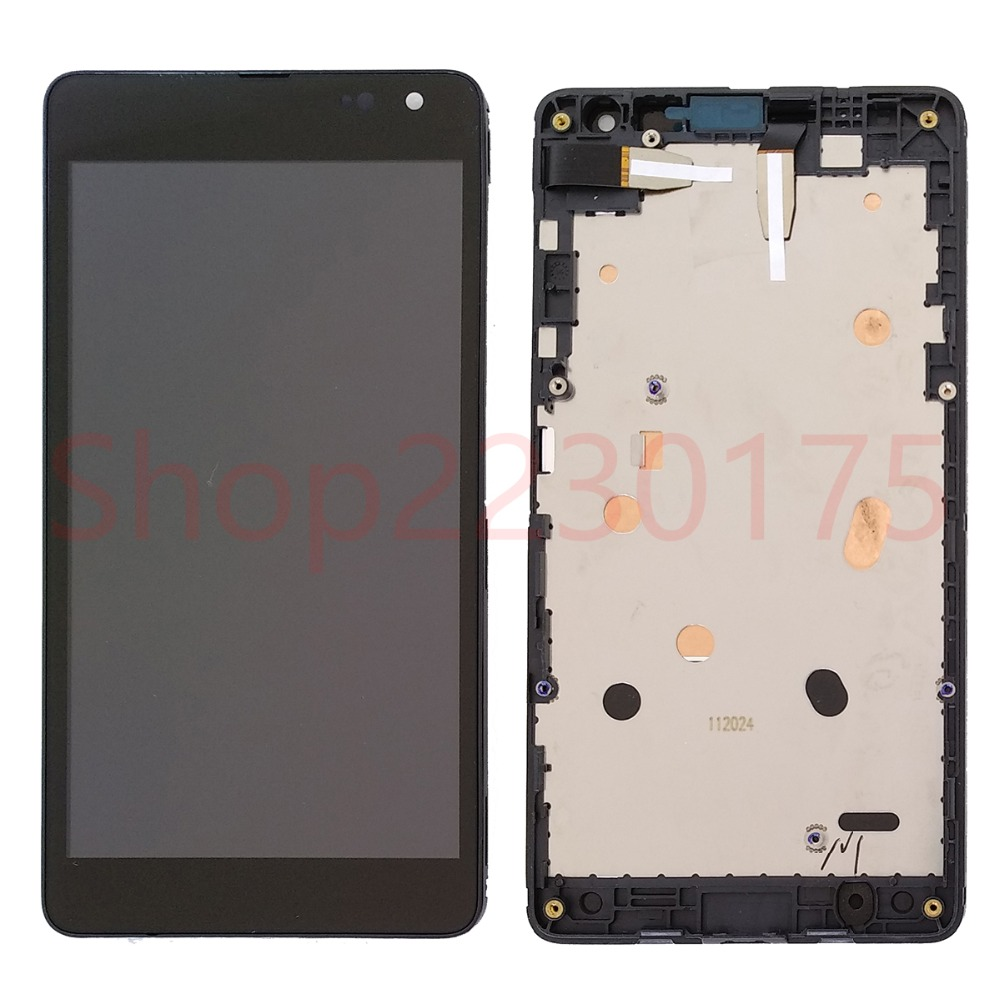 For Nokia Lumia 535 RM-1090 Version 2S 2C LCD Display Touch Screen Digitizer Assembly Frame Replacement Parts