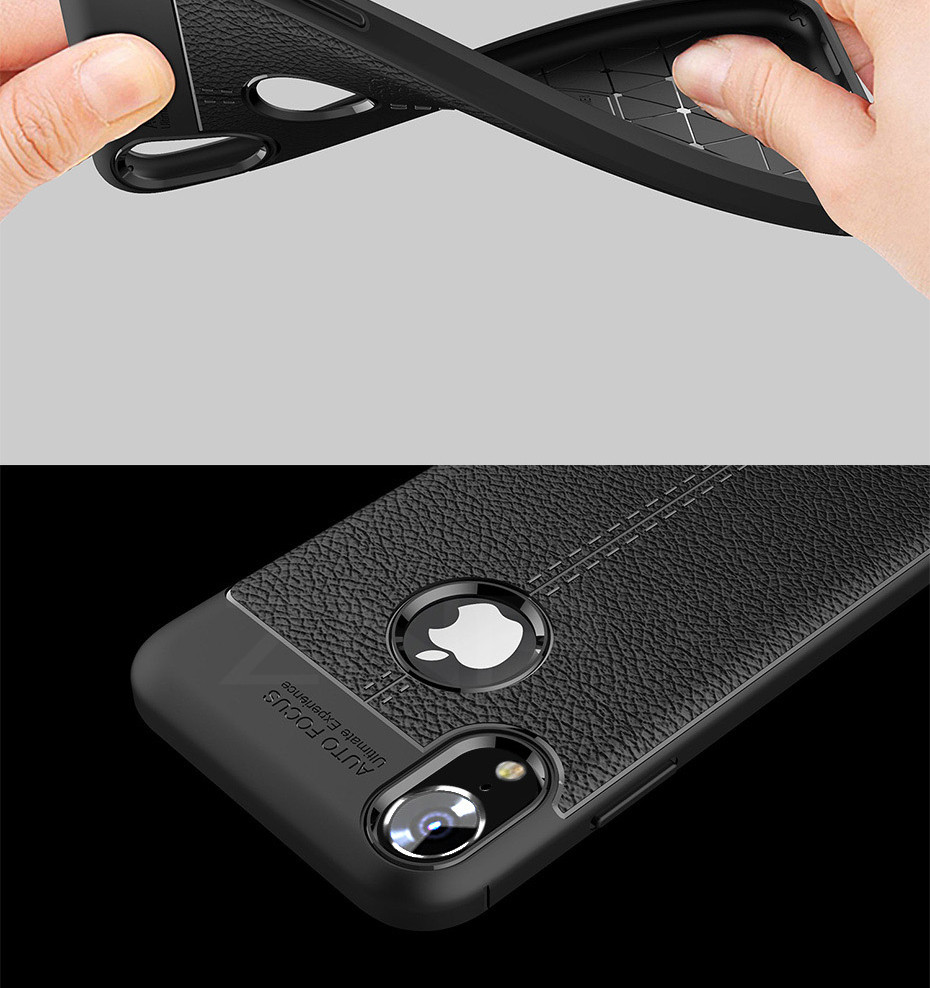 HTB1t6PBXinrK1Rjy1Xcq6yeDVXap - ZNP Luxury Shockproof Matte Cover For iPhone 6 7 8 Plus 6s Case Leather Carbon Fiber Leather For iPhone X XR XS Max Phone Case