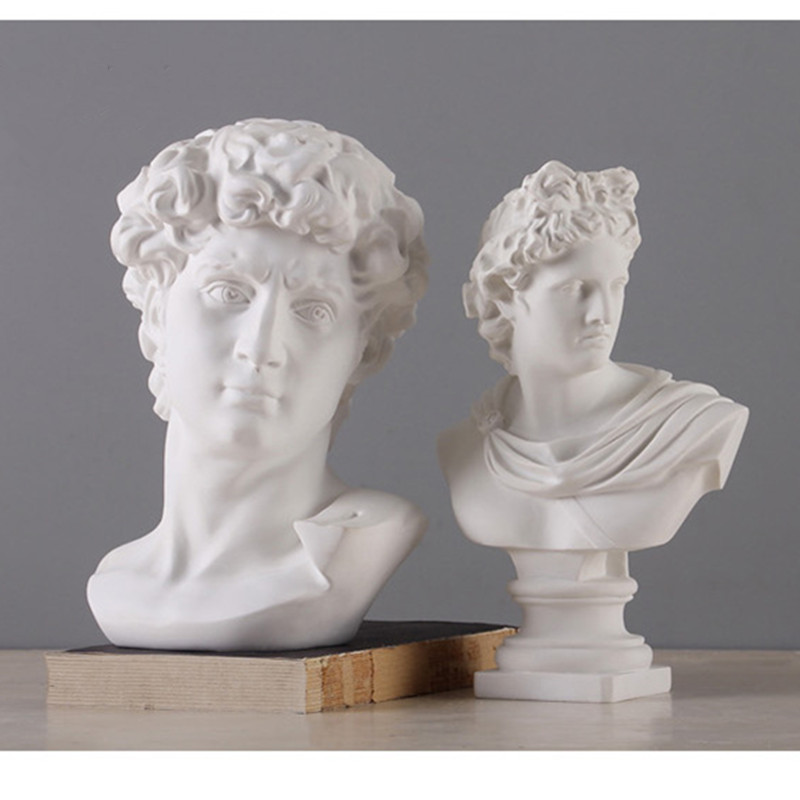 David Apollo Statue Beethoven Mozart Art Sculpture Venus Goddess Hellenistic Resin Art&Craft Gypsum Sketch Home Decorations R895
