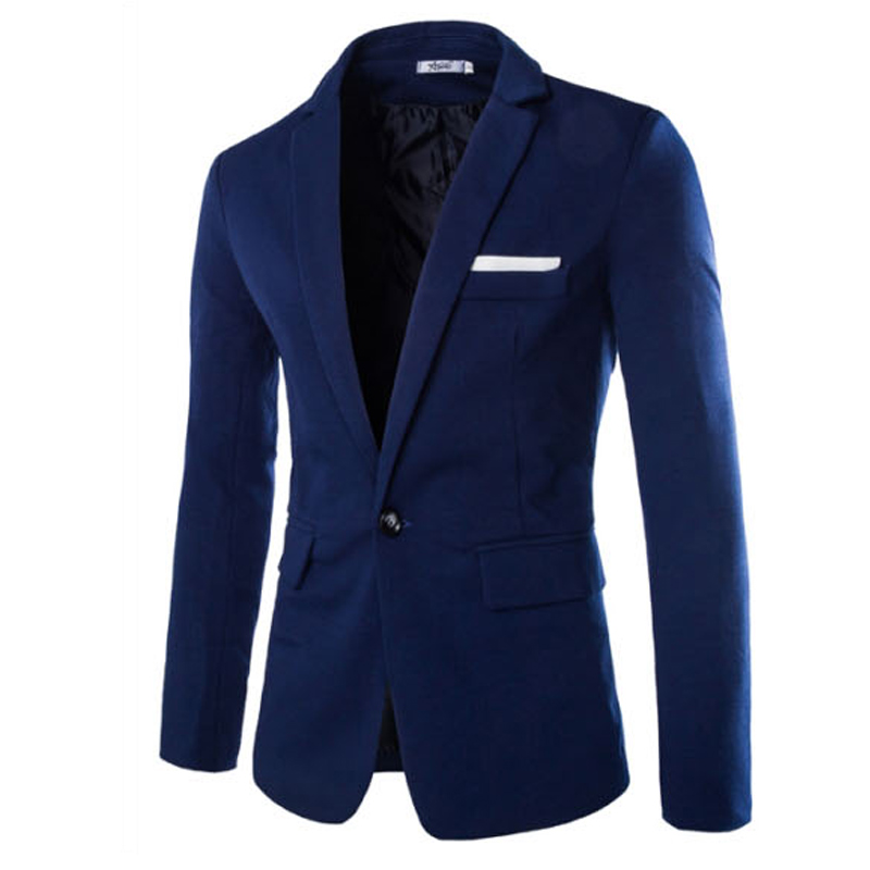 2017 New Spring Summer Fashion Brand Unique Mens Blazer Men Corduroy Casual Blazer Slim Fit Business Men Suit Jacket Blue