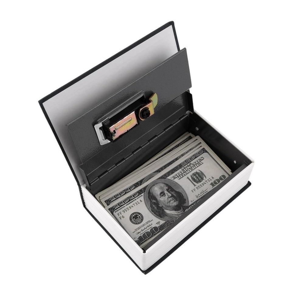 Купить с кэшбэком Safe Box Dictionary Secret Book Money Secret Box Security Safe Lock Cash Storage Box Jewellery Password Locker caja fu
