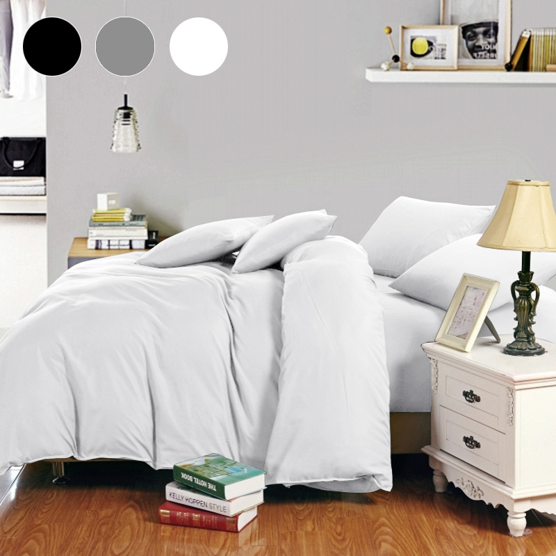 Russia Spain Bedding Set Europe Queen Double King Single Luxury Duvet Cover Set  Bed Linen Set White Black Gray BedClothes