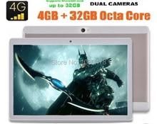 10 pulgadas Android 6.0 Octa Core Tablet 4G FDD LTE 4 GB RAM 64 GB ROM 1920*1200 IPS Cámaras Duales Dual SIM Cards GPS Tabletas 9 10 10.1