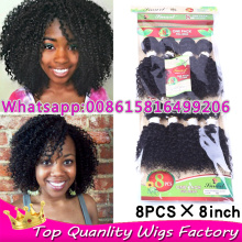 Curly crochet real hair extensions Queen hair products 8 bundles weave tissage brazilian afro kinky curly hair sexy formula hair