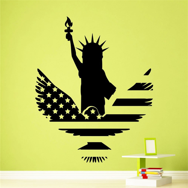 Aliexpress.com : Buy Art Decor Statue of Liberty Wall Decal USA Flag ...