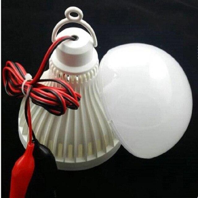 Ampoule Led basse tension 5 W 7 W 9 W 12 W 15 W 24 W 36 W 48 W ampoule de décrochage de plancher de marché nocturne pince alligator ampoule de batterie 12-24 V universelle