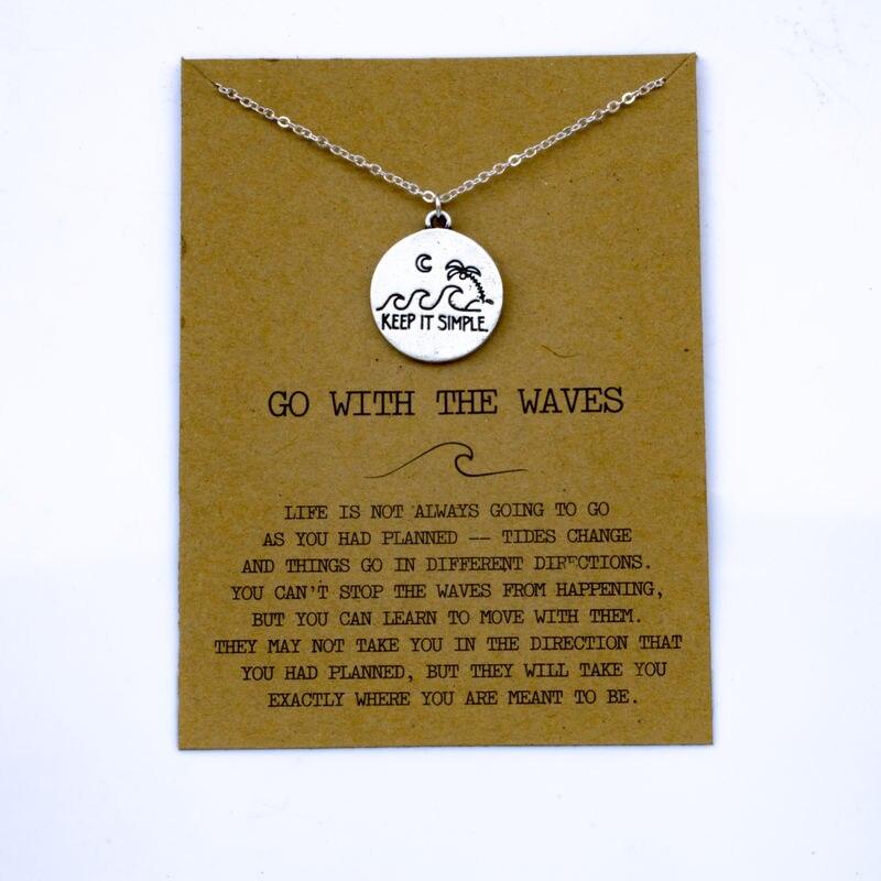 """SanLan 1 шт идут в комплекте ожерелье с подвеской """"волны"""" Океан ювелирные изделия - Окраска металла: 13"""