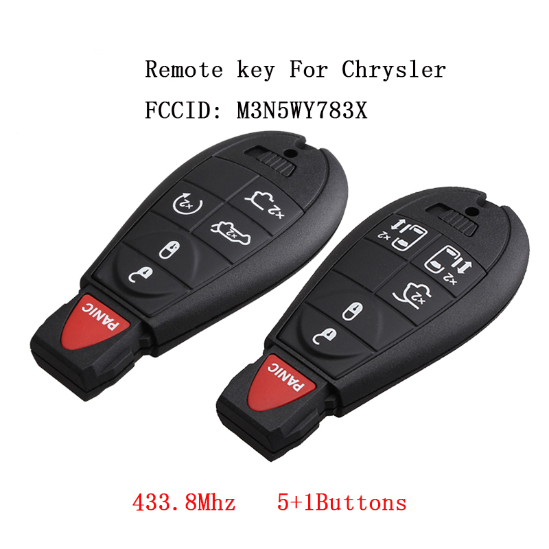 6Buttons Remote Keyless key For Chrysler M3N5WY783X 433.8Mhz Car Key Fob Transmitter For Jeep Grand Cherokee 2008 - 2015 6Buttons Remote Keyless key For Chrysler M3N5WY783X 433.8Mhz Car Key Fob Transmitter For Jeep Grand Cherokee 2008 - 2015